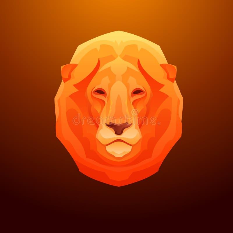 Uitstekend leeuwetiket Retro vector grafisch ontwerp stock illustratie