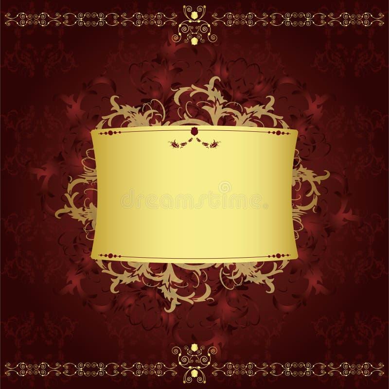 Uitstekend luxueus etiket stock illustratie