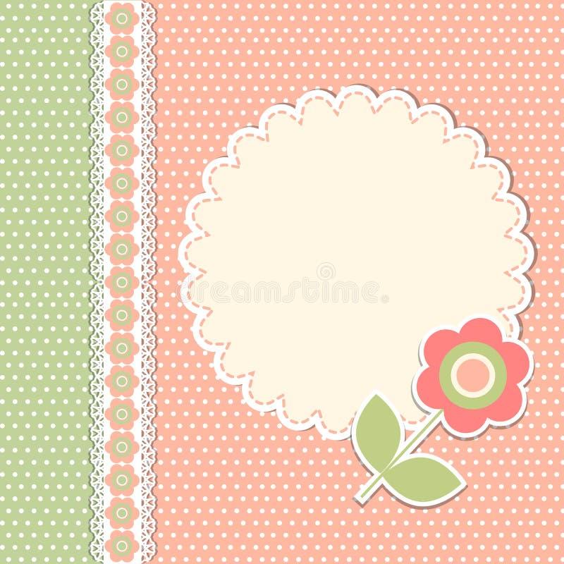 Uitstekend malplaatje met bloem royalty-vrije illustratie