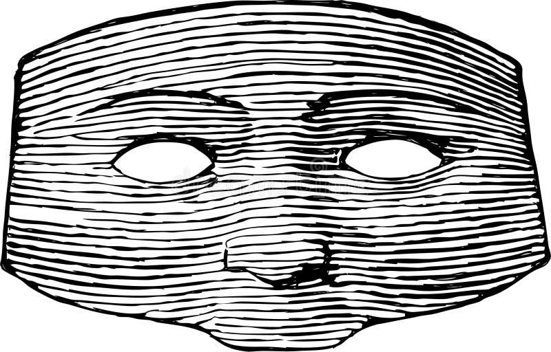 Uitstekend masker vector illustratie