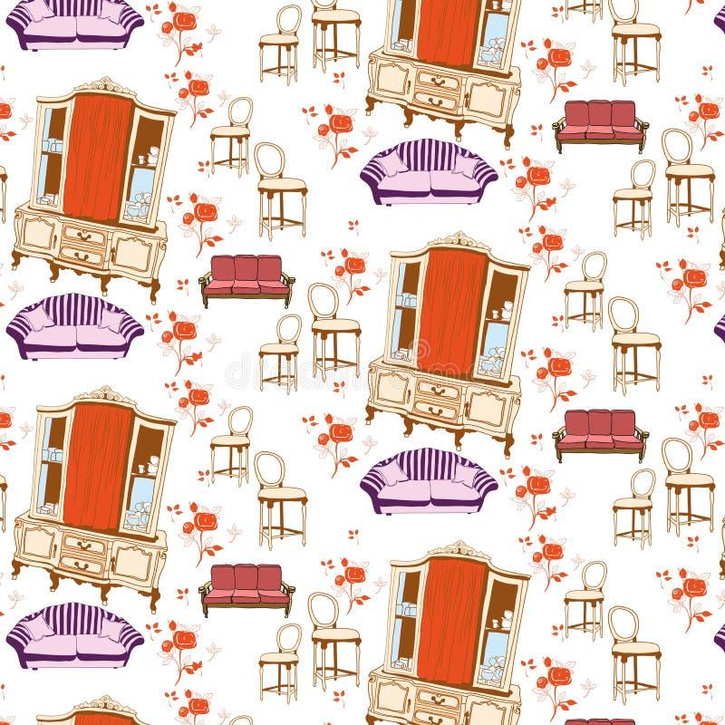 Uitstekend meubilair stock illustratie