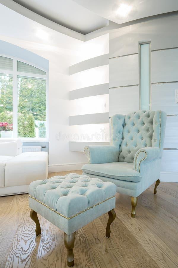 Uitstekend meubilair binnen kristalbinnenland stock fotografie