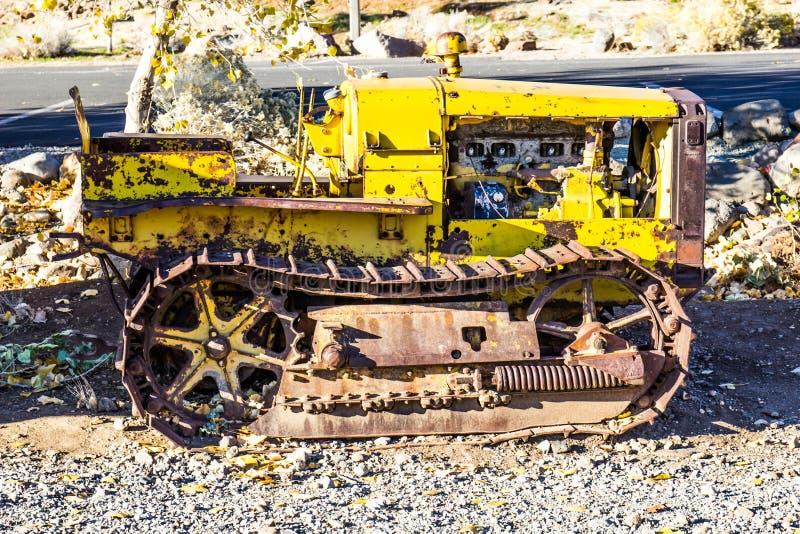 Uitstekend Mini Bulldozer In Early Morning royalty-vrije stock foto