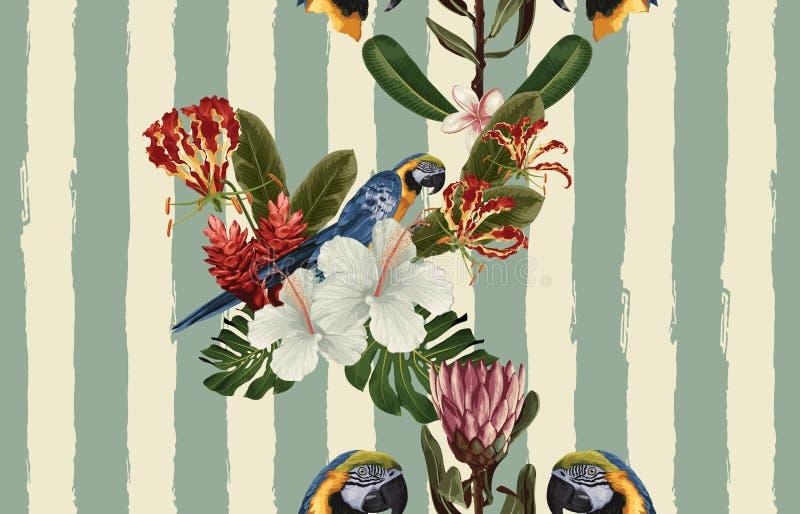Uitstekend Mooi en in Naadloos Patroonontwerp in super hoge resolutie De Textuur van de patroondecoratie Uitstekend stijlontwerp royalty-vrije illustratie