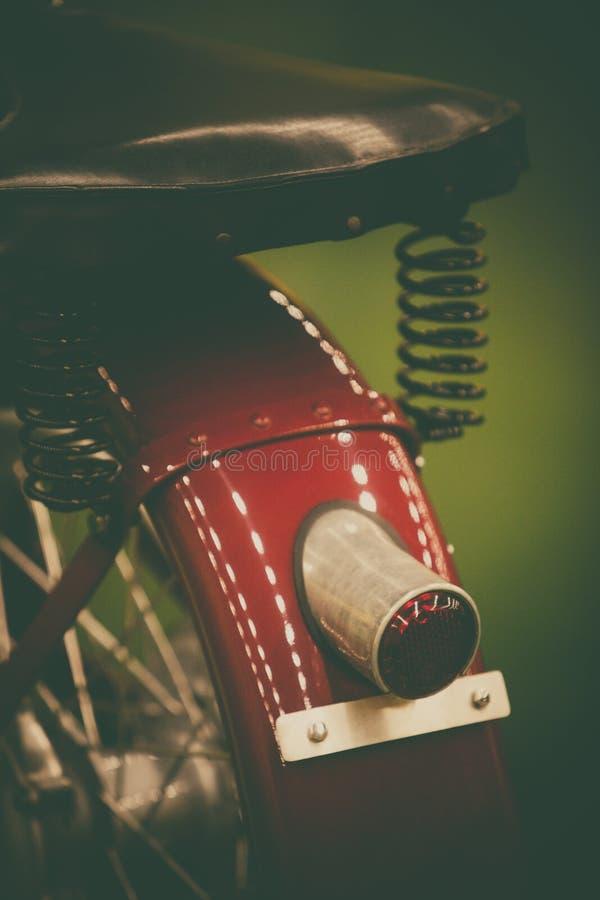 Uitstekend motorfietsstoplicht stock foto