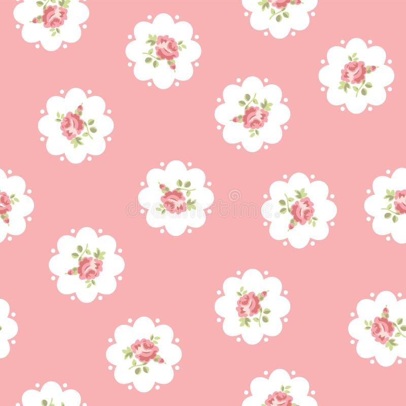 Uitstekend naadloos bloemenpatroon royalty-vrije illustratie