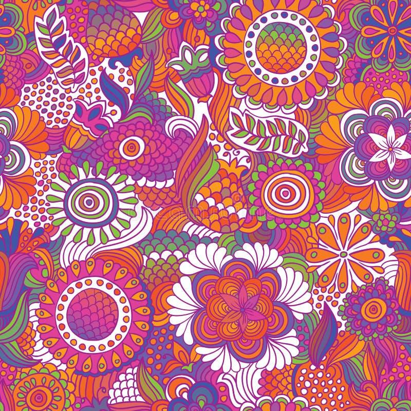 Uitstekend naadloos bloempatroon royalty-vrije illustratie