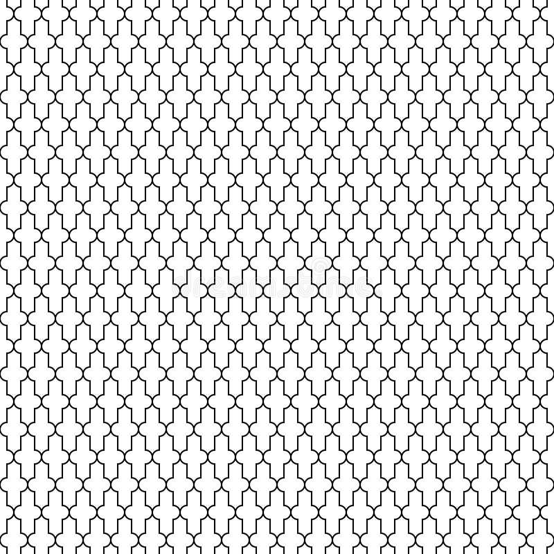 Uitstekend naadloos geometrisch patroon, Quran-Islam Moslim vector illustratie
