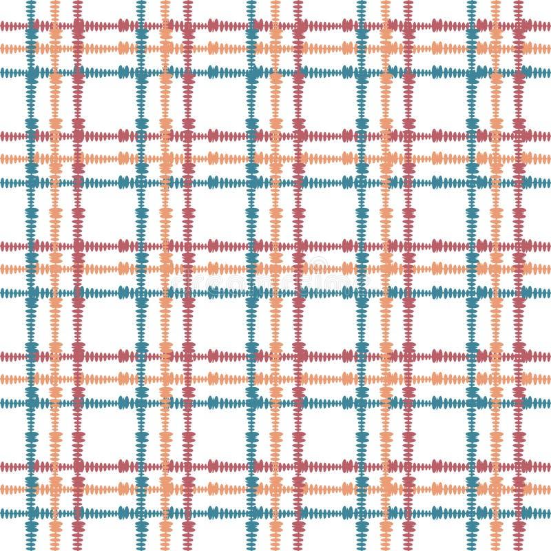 Uitstekend naadloos patroon met de kruising van geschilderde lijnen Plaidtextuur voor druk, document behang, huisdecor, manier royalty-vrije illustratie
