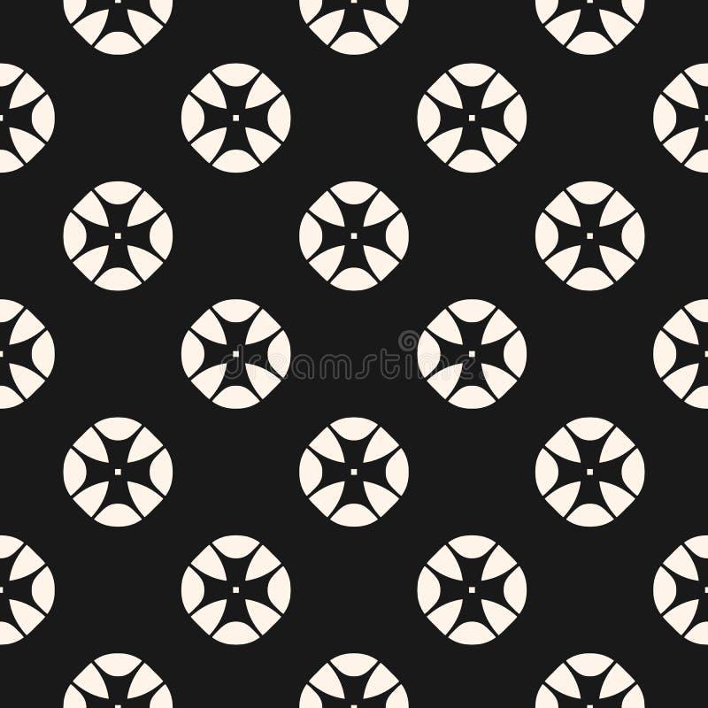 Uitstekend naadloos patroon met gestileerde bloemen geometrische vormen royalty-vrije illustratie