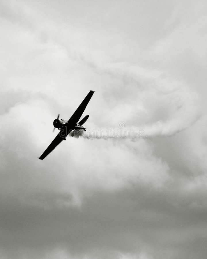 Uitstekend oorlogsvliegtuig royalty-vrije stock afbeelding