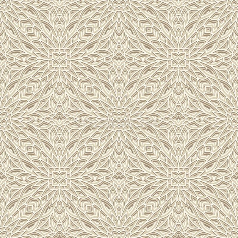 Uitstekend ornament, wit naadloos patroon royalty-vrije illustratie