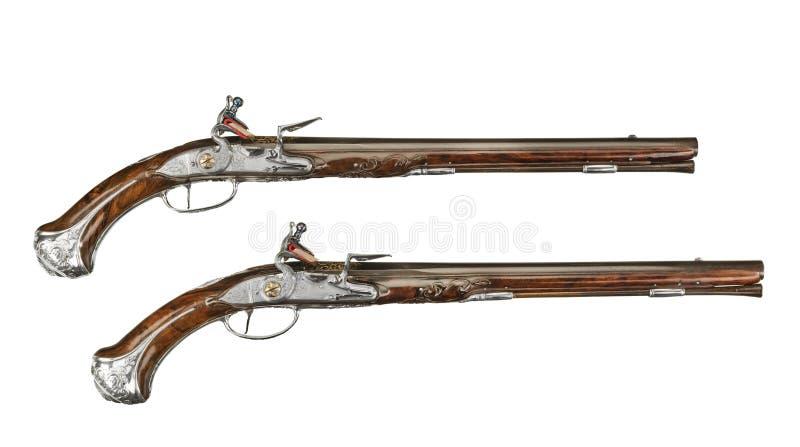 Uitstekend paar pistolen royalty-vrije stock foto's