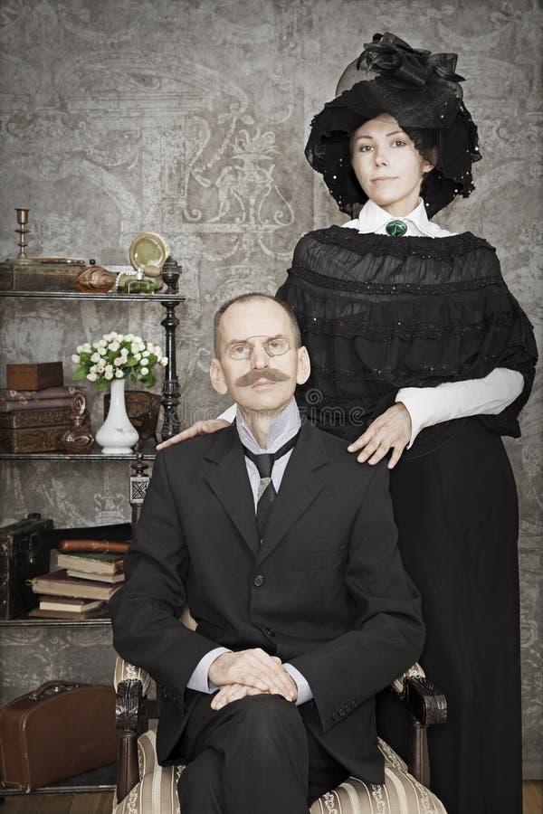 Uitstekend paarportret stock foto
