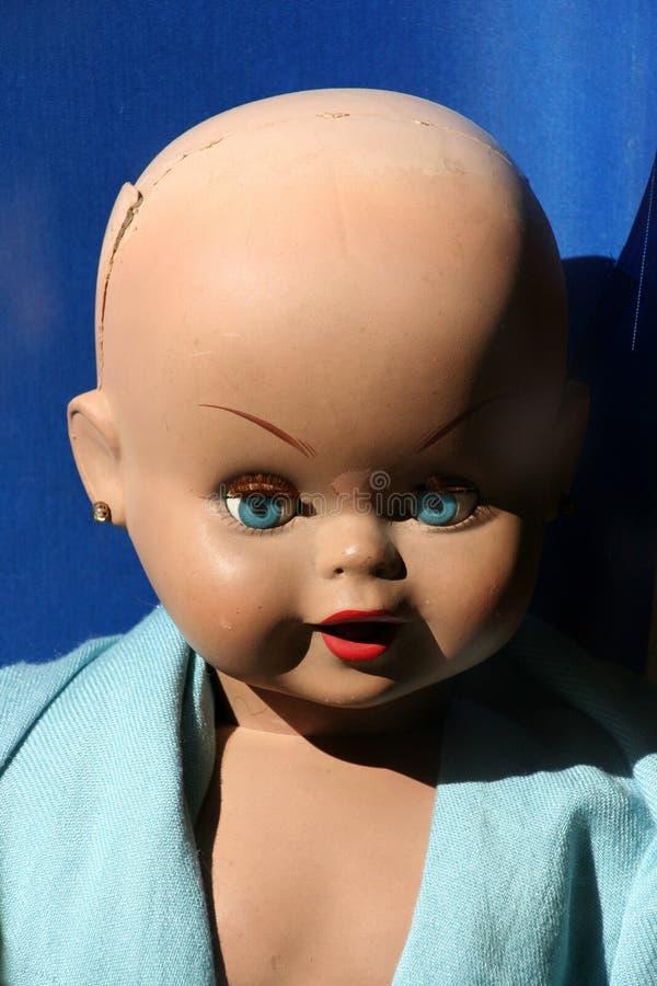 Uitstekend poppengezicht stock foto