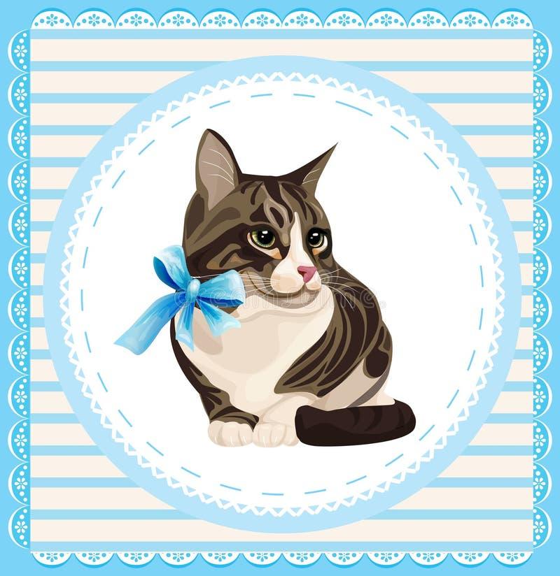 Uitstekend portret van de kat stock illustratie