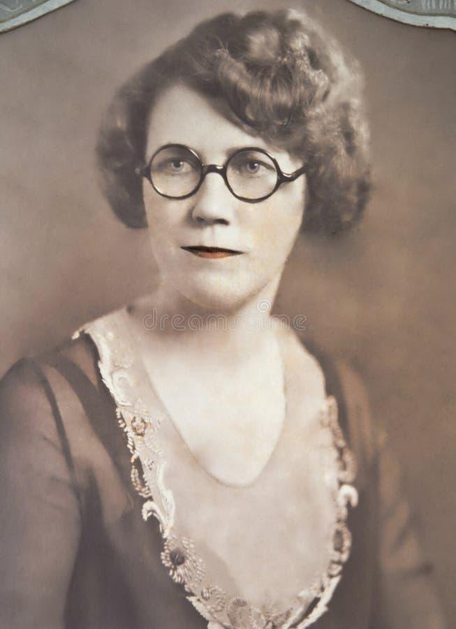 Uitstekend Portret van Vrouw royalty-vrije stock foto's