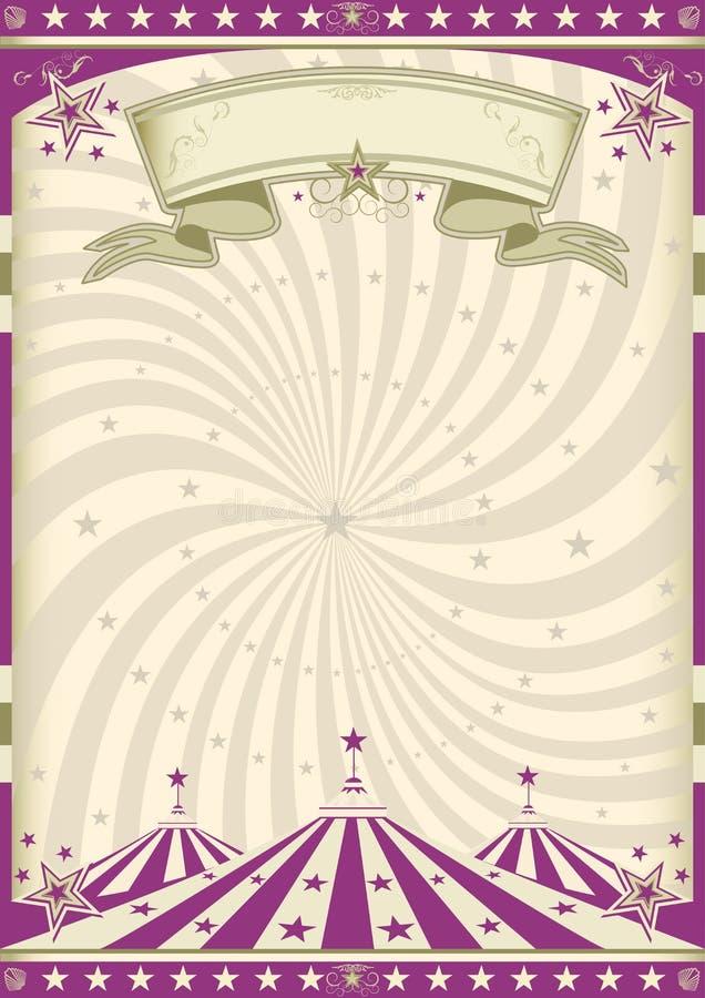 Uitstekend purper circus vector illustratie