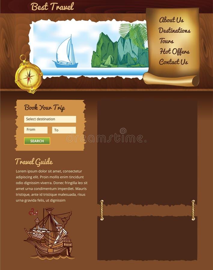 Uitstekend reismalplaatje royalty-vrije illustratie