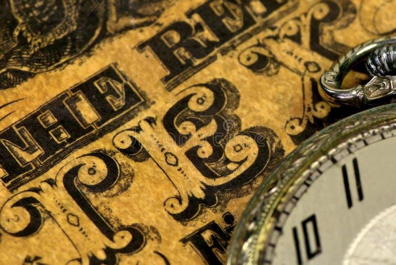 Uitstekend rekening en zakhorloge. royalty-vrije stock afbeeldingen