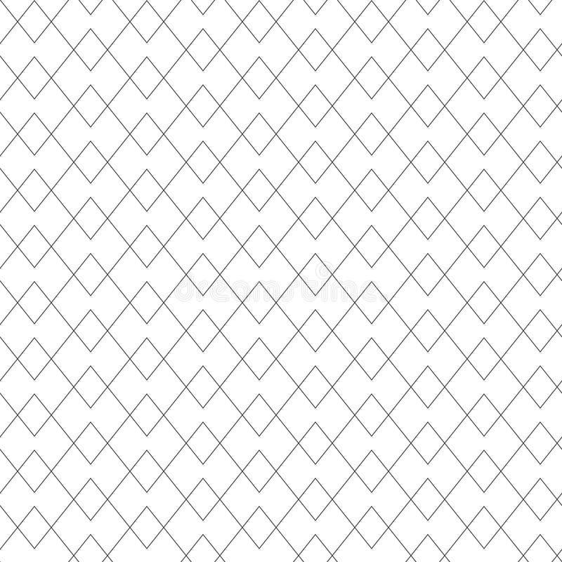 Uitstekend retro naadloos lijnpatroon royalty-vrije illustratie