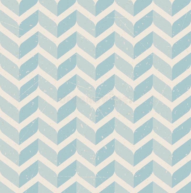 Uitstekend retro naadloos patroon op document achtergrond vector illustratie