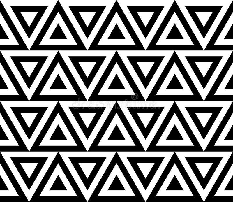 Uitstekend retro naadloos zwart-wit patroon vector illustratie