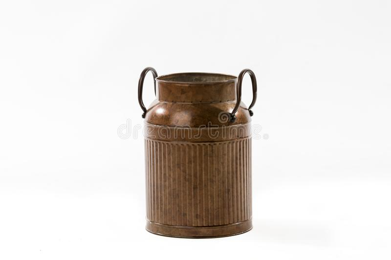 Uitstekend Retro Rusty Old Fashioned Milk Can stock fotografie