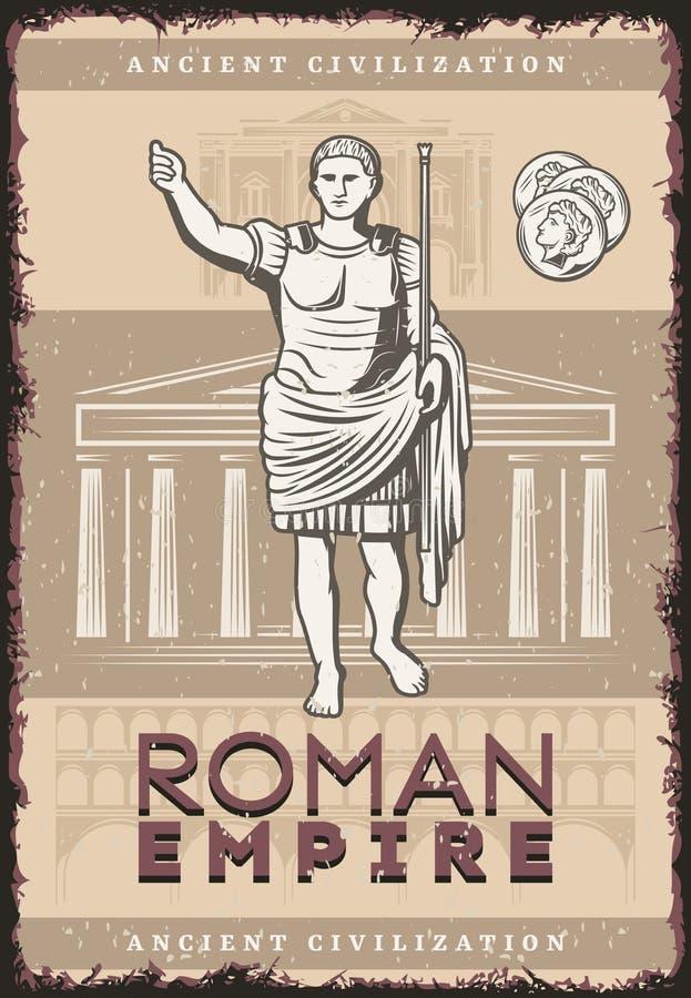 Uitstekend Roman Empire Poster vector illustratie