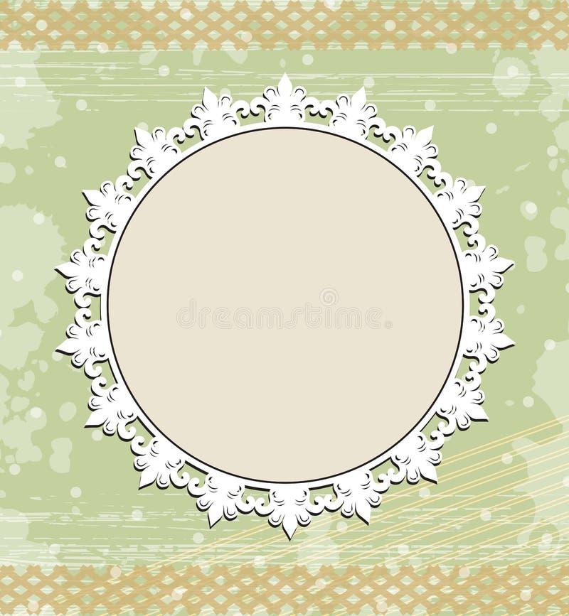 Download Uitstekend Rond Frame Op Bloemenachtergrond Stock Illustratie - Illustratie bestaande uit frame, schoonheid: 29505977