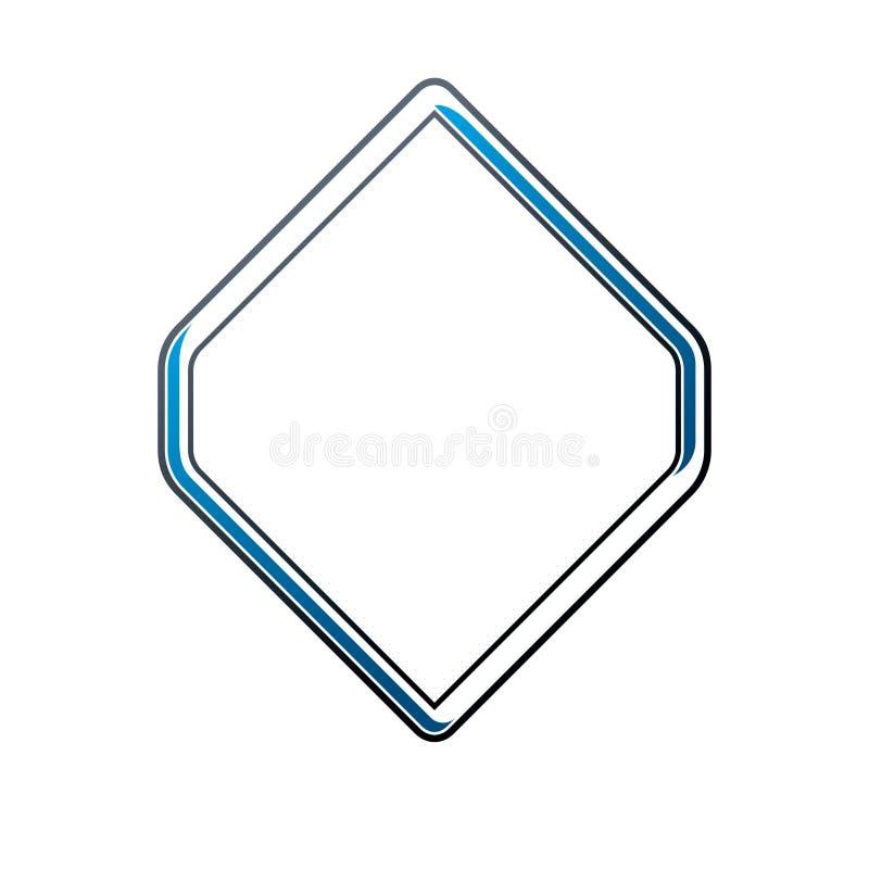 Uitstekend ruitkader met duidelijke exemplaar-ruimte Heraldisch wapenschild vector illustratie