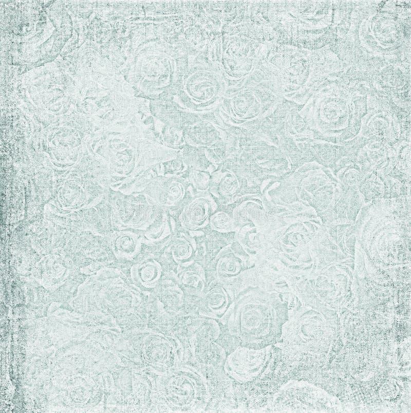 Uitstekend sjofel bloemdocument stock afbeeldingen