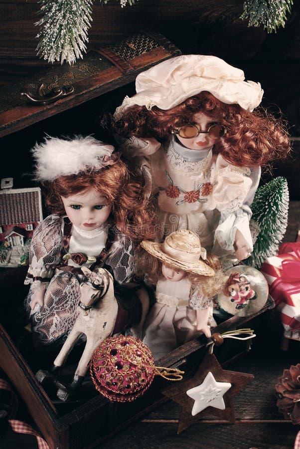 Uitstekend speelgoed voor Kerstmis royalty-vrije stock foto's