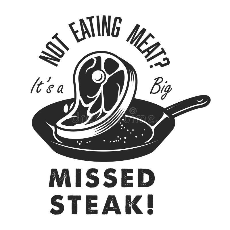 Uitstekend steakhouseembleem stock illustratie