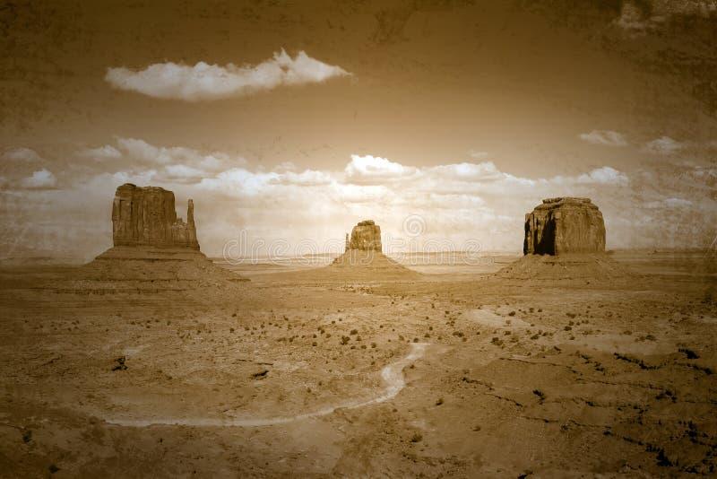 Uitstekend Stijl Bevlekt Beeld van Lan van de Vallei van het Monument royalty-vrije stock foto's