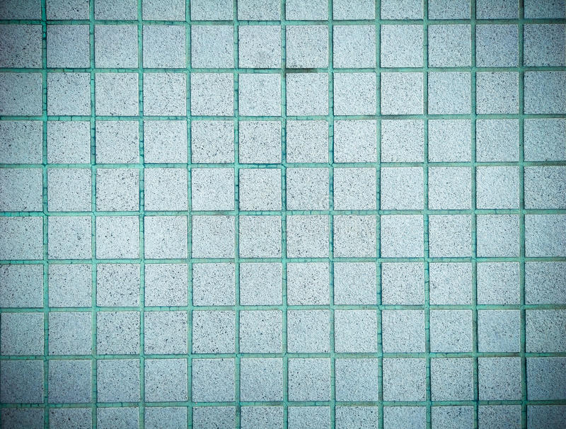 Uitstekend stijlontwerp van blauwe de textuurmuur van de mozaïektegel stock foto