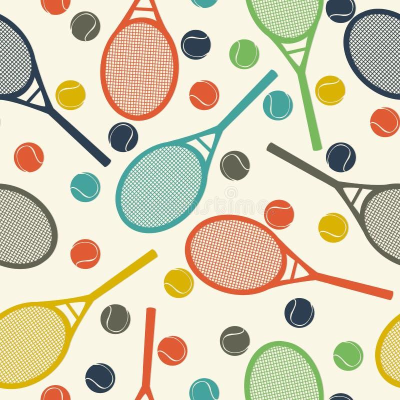 Uitstekend tennispatroon royalty-vrije illustratie
