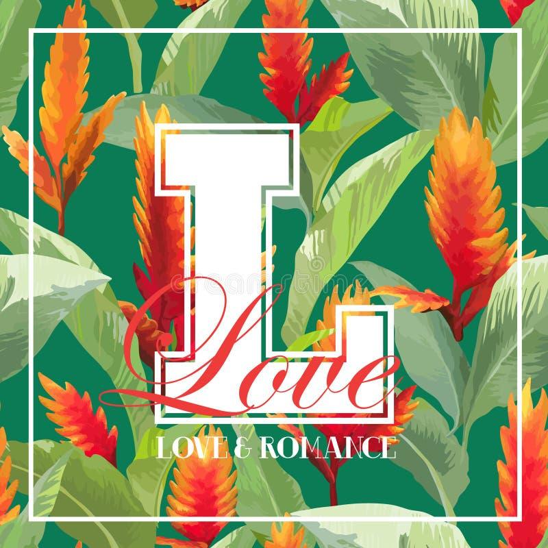 Uitstekend Tropisch Bladeren en Bloemen Grafisch Ontwerp voor T-shirt vector illustratie