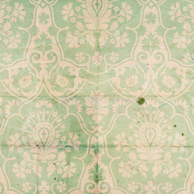 Uitstekend van het Plakboek van het Damast patroon als achtergrond stock afbeeldingen