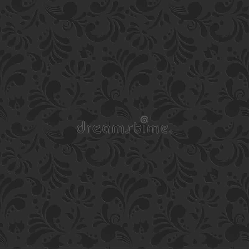 Uitstekend Vector Bloemen Naadloos Patroon royalty-vrije illustratie