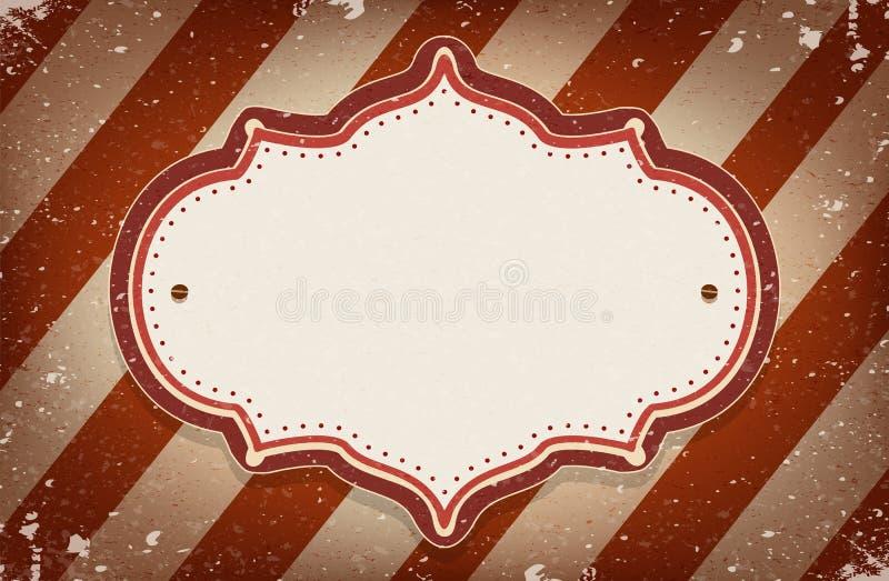Uitstekend vectorcircus geïnspireerd kader met een ruimte voor tekst royalty-vrije illustratie