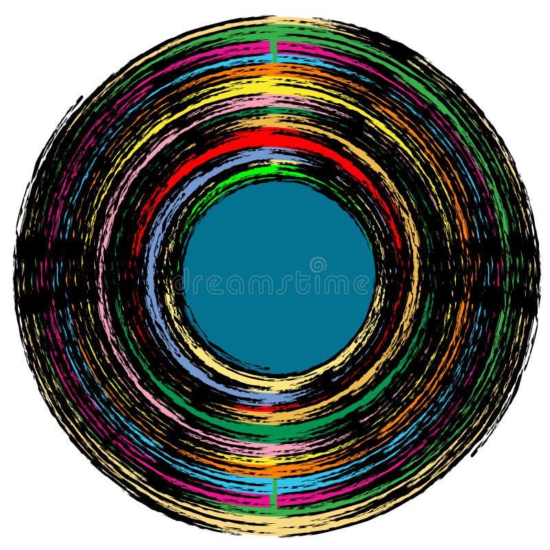 Uitstekend vinylverslag vector illustratie