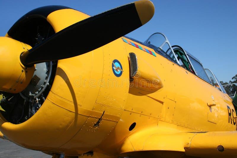 Uitstekend Vliegtuig royalty-vrije stock afbeeldingen