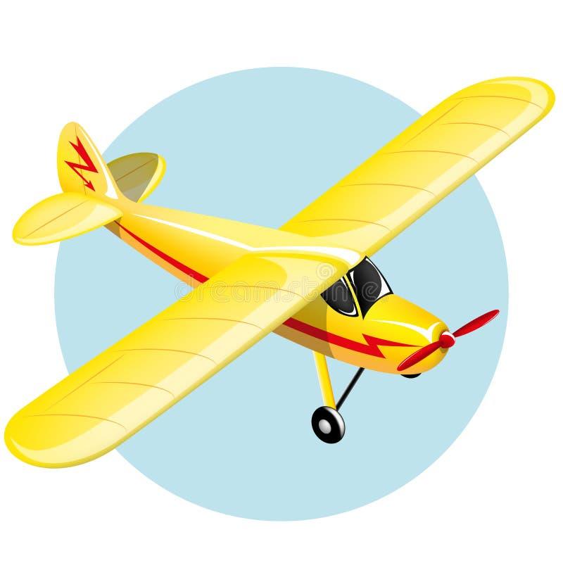 Uitstekend vliegtuig royalty-vrije illustratie