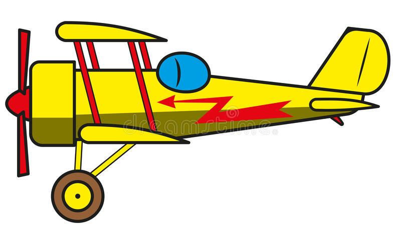 Uitstekend vliegtuig stock illustratie