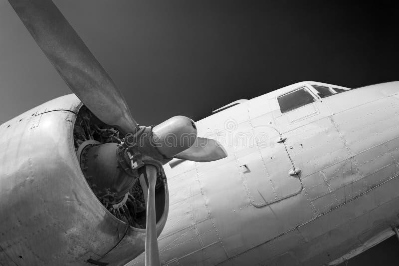 Uitstekend Vliegtuig stock afbeeldingen