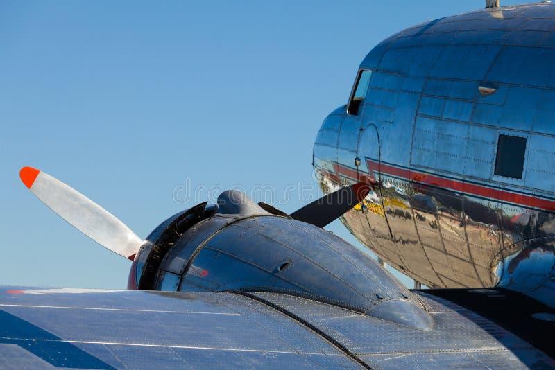 Uitstekend Vliegtuig gelijkstroom-3 stock afbeelding