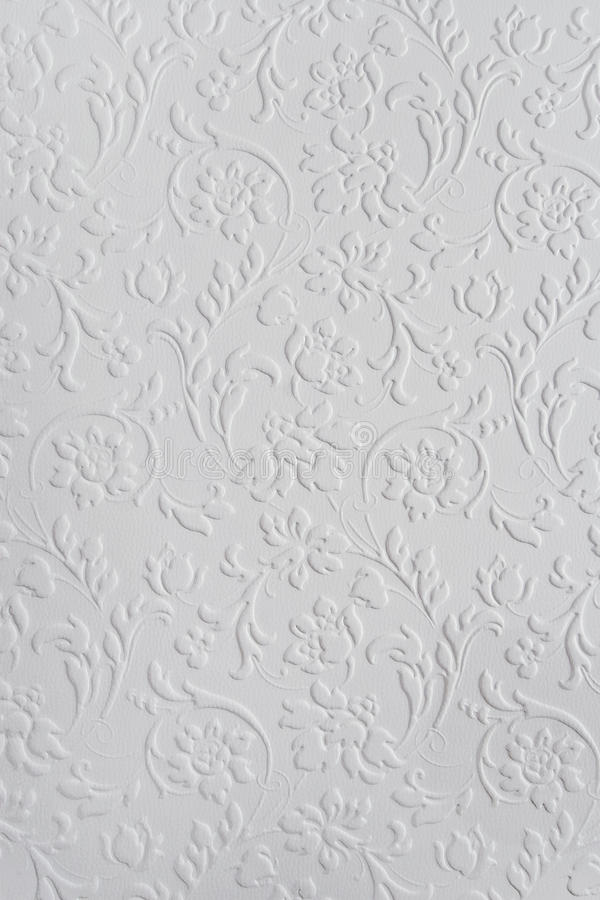Uitstekend wit bloemenpatroon royalty-vrije stock foto