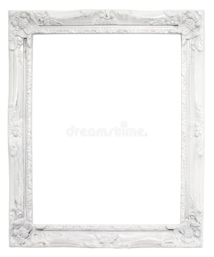 Uitstekend wit kader met lege ruimte, met het knippen van weg royalty-vrije stock afbeelding