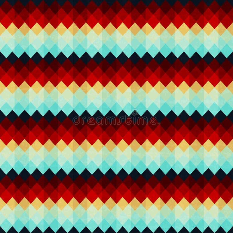 Uitstekend zigzag naadloos patroon stock illustratie